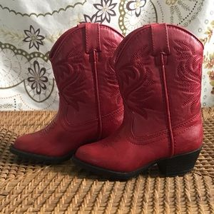 Other - Red cowboy boots Toddler size 8